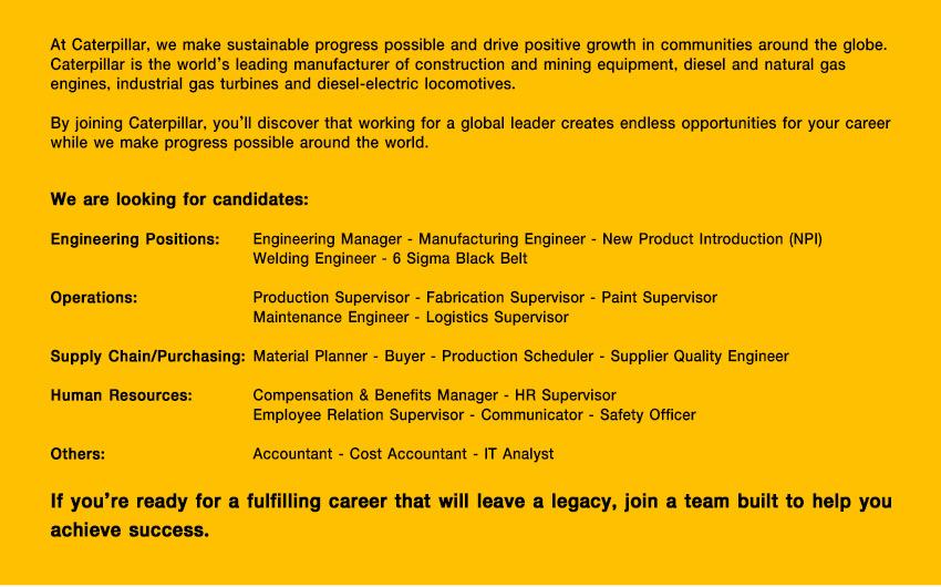avaliable job positioning