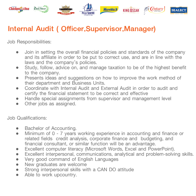 TUF Internal Audit jobs details