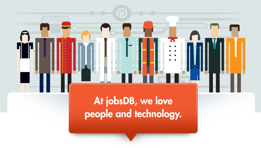 At jobsDB, we love people and technology