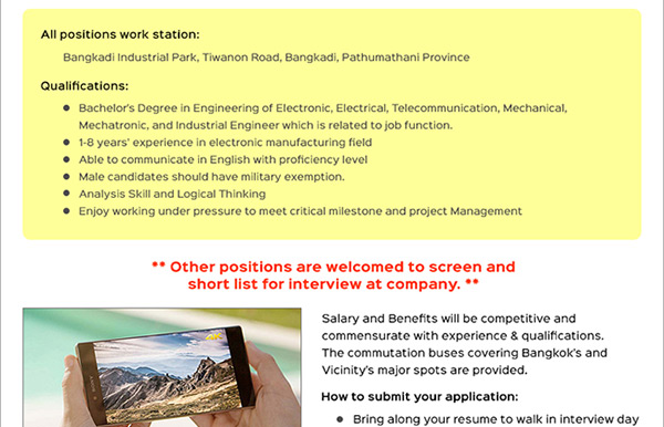 Sony jobs in Pathumthani