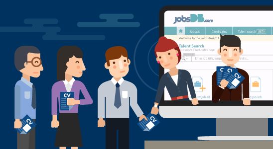 ระบบ jobsDB Recruitment Centre