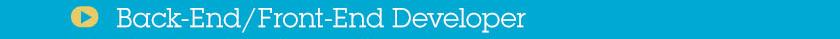 Back-End - Front-End Developer