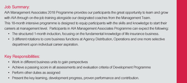AIA Corporate Leaders Development Programme