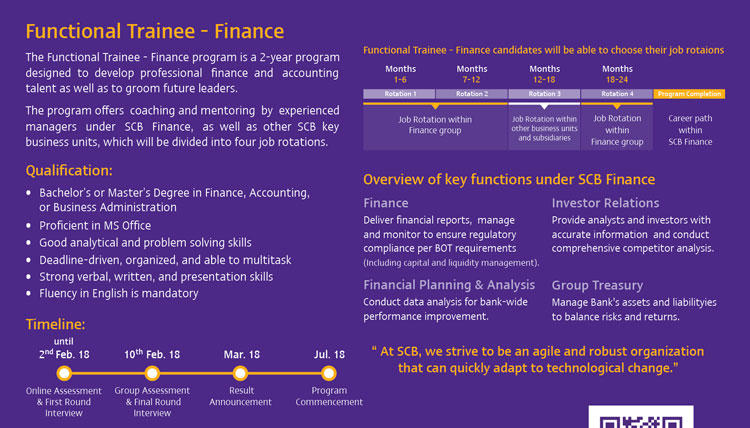 SCB Finance Trainee