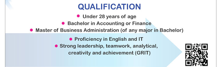 Qualification for CP Finance Executive Trainee