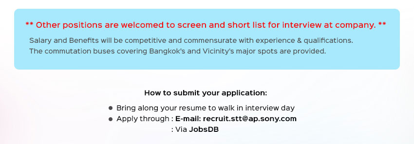 SONY STT Walk in interview