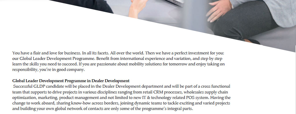BMW Global Leader Development Programme