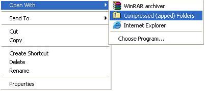 วิธีบีบอัดไฟล์ใน-windows-xp